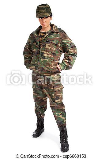 army woman - csp6660153