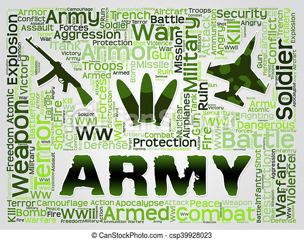 Army Words Show Defense Forces And Fighting