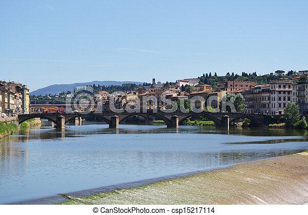 Arno river, Florence, Italy - csp15217114