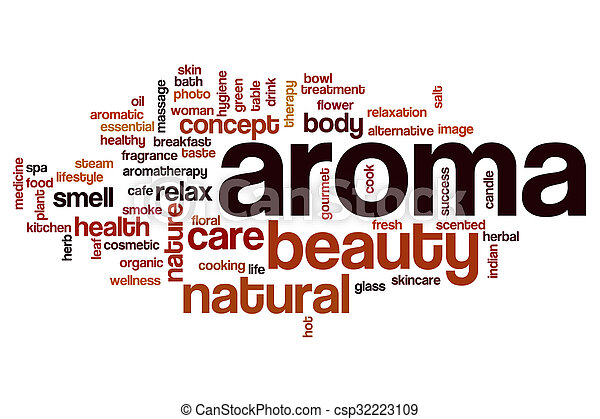 Aroma word cloud concept - csp32223109