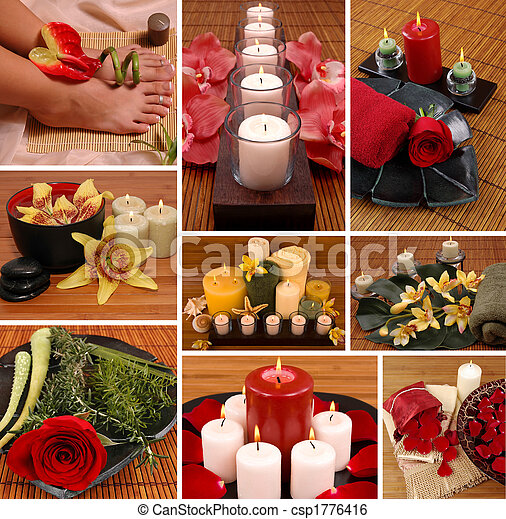 Aromatheraphy Collage - csp1776416