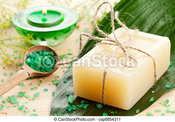 Aromatherapy concept with soap - csp8854311