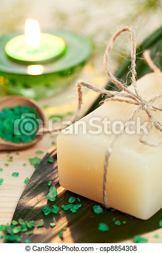 Aromatherapy concept with soap - csp8854308