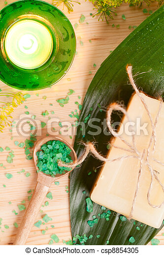 Aromatherapy concept with soap - csp8854305