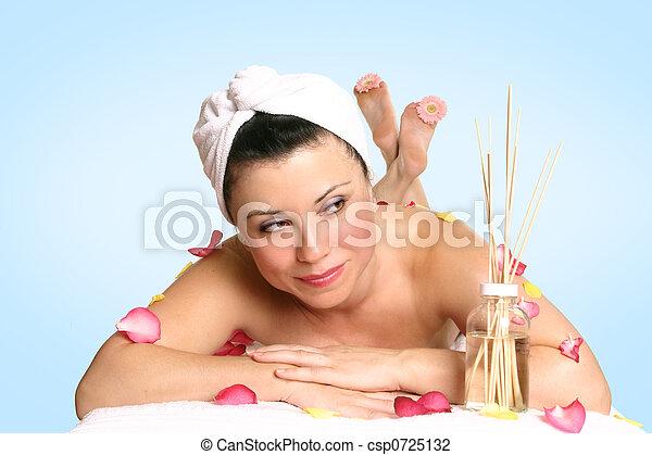 aromatherapy, deleite, beleza - csp0725132