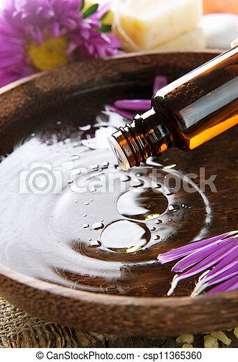 Aromatherapy. Essential Oil. Spa Treatment  - csp11365360