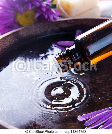 Aromatherapy. Essential Oil. Spa Treatment  - csp11364753