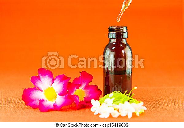 Aromatherapy essential oil - csp15419603