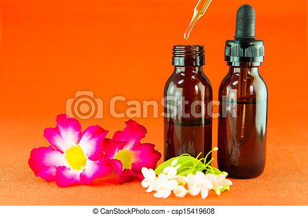 Aromatherapy essential oil - csp15419608