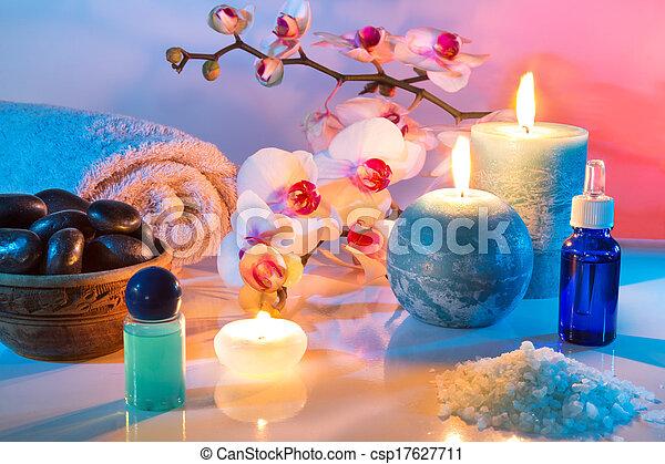 aromatherapy, -oil, masseren - csp17627711