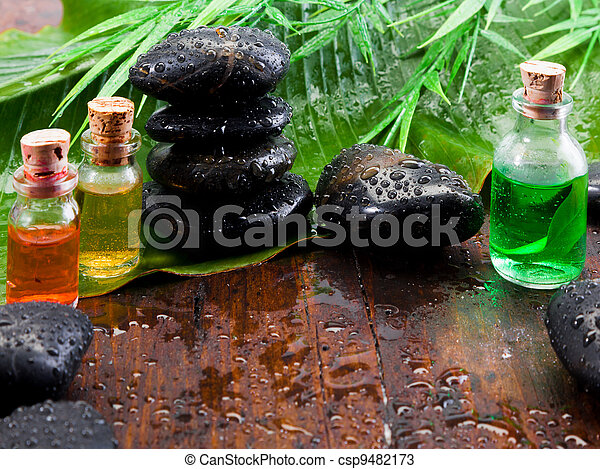 Aromatherapy spa treatment still life - csp9482173
