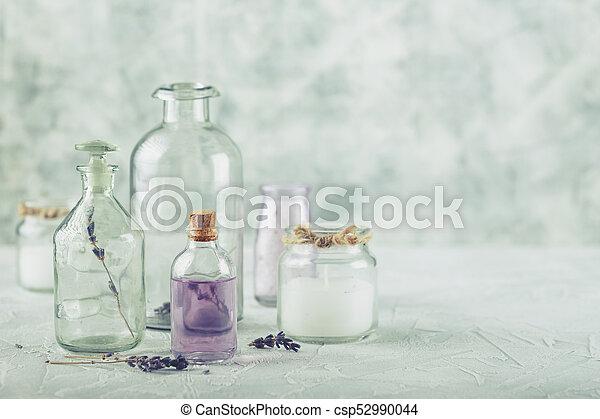 Aromatic oils and salt - csp52990044
