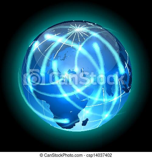 around., luz, globo, rastros, girar - csp14037402