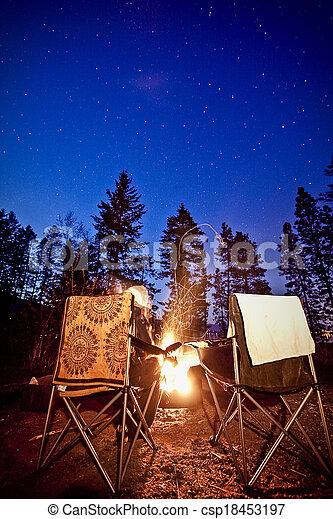 Around the Campfire - csp18453197