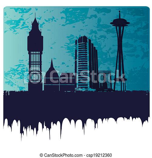 around the world - csp19212360
