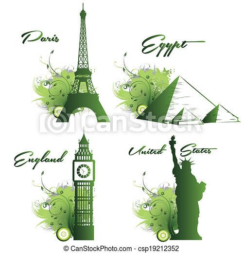 around the world - csp19212352