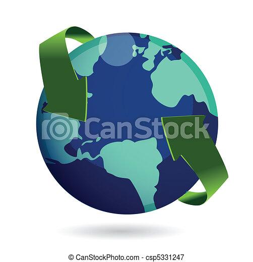 Around the world concept - csp5331247