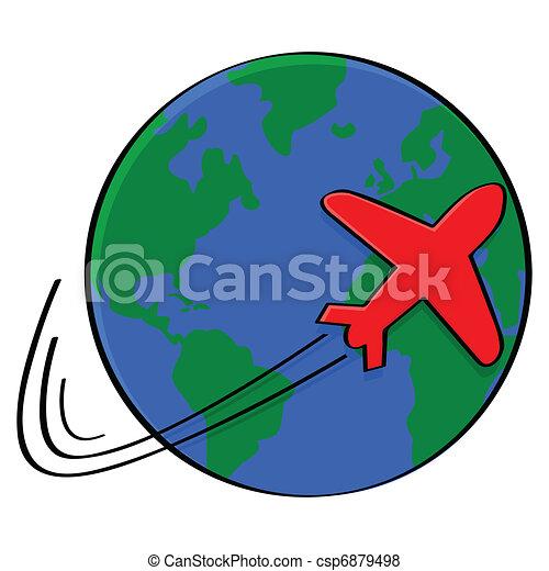 Around the world. Illustration...