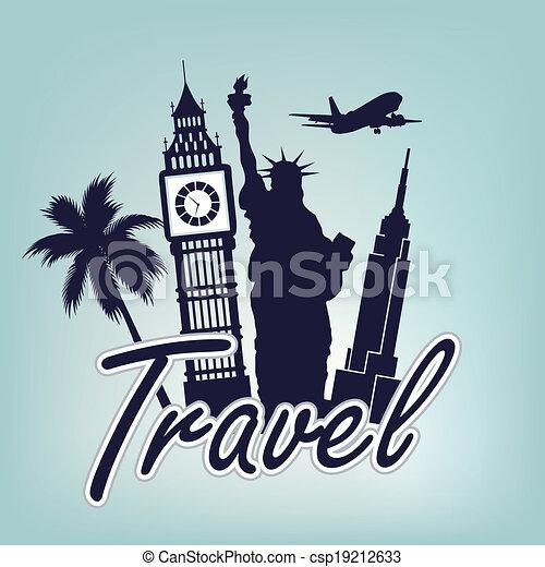around the world - csp19212633