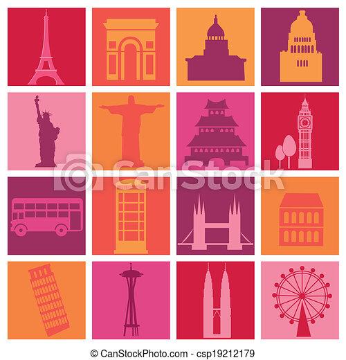 around the world - csp19212179