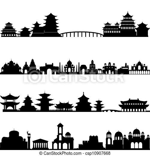 arquitectura, asia - csp10907668