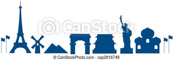 arquitectura de mundo - csp2816748
