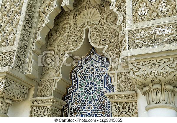 arquitetura, marroquino - csp3345655
