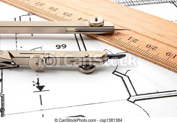 arquitetura, planos - csp1381384