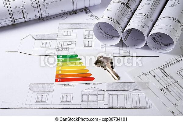 arquitetura, planos - csp30734101