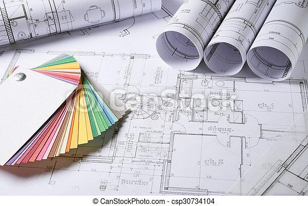 arquitetura, planos - csp30734104
