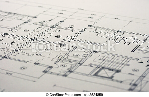 arquitetura, planos - csp3524859