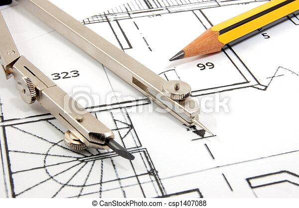 arquitetura, planos - csp1407088