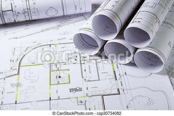 arquitetura, planos - csp30734082