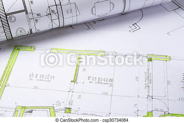 arquitetura, planos - csp30734084