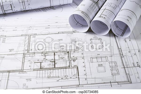 arquitetura, planos - csp30734085