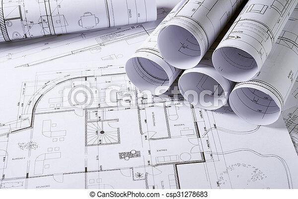 arquitetura, planos - csp31278683