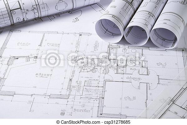 arquitetura, planos - csp31278685