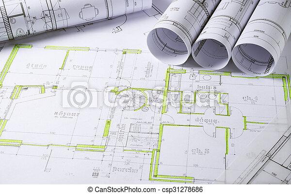 arquitetura, planos - csp31278686