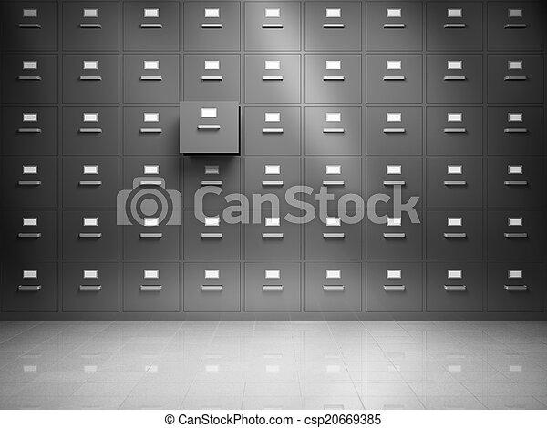 arquive gabinete - csp20669385