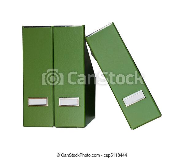 arquivos, revista, verde - csp5118444