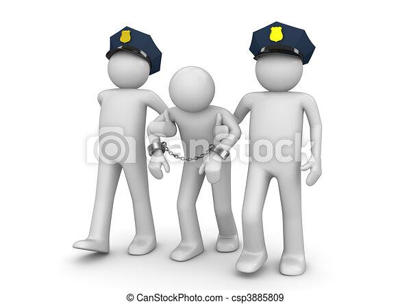 arrêté, hors-la-loi, -, légal, collection - csp3885809