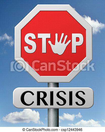 arrêt, crise - csp12443946