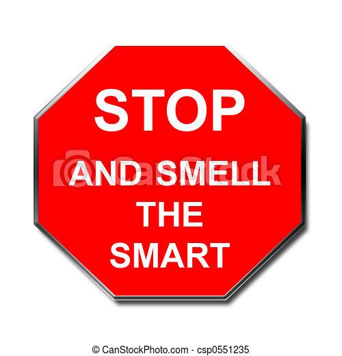 arrêt, intelligent, signe - csp0551235