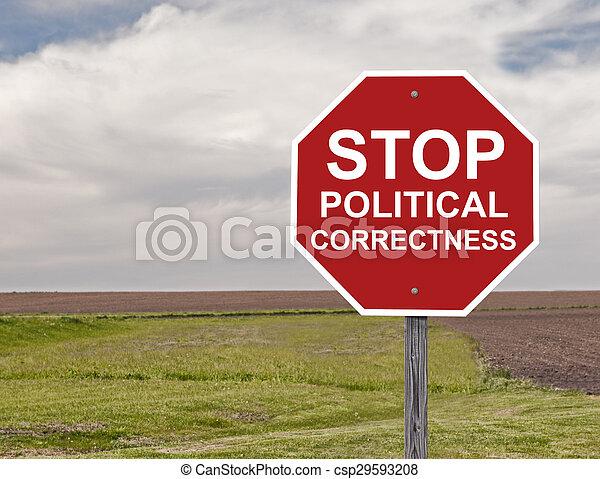 arrêt, politique, exactitude - csp29593208