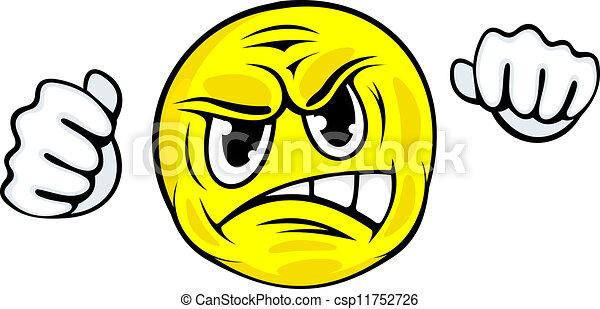 arrabbiato, faccia, icona - csp11752726