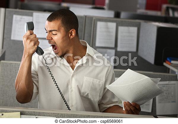 arrabbiato, lavoratore, ufficio - csp6569061