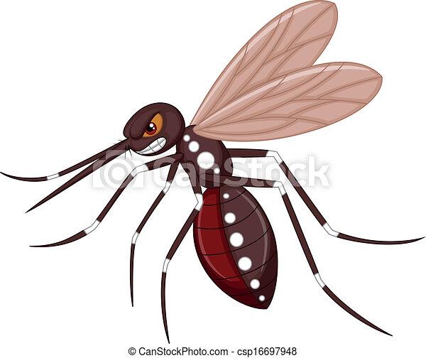 Arrabbiato zanzara cartone animato arrabbiato vettore
