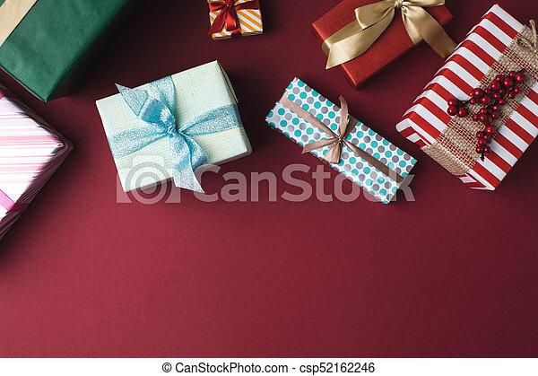 arranged christmas gift boxes - csp52162246