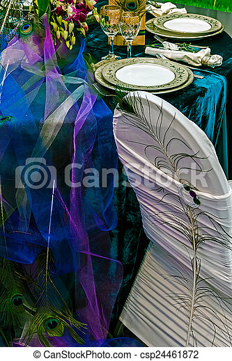 Arrangement for the wedding dinner party-11 - csp24461872