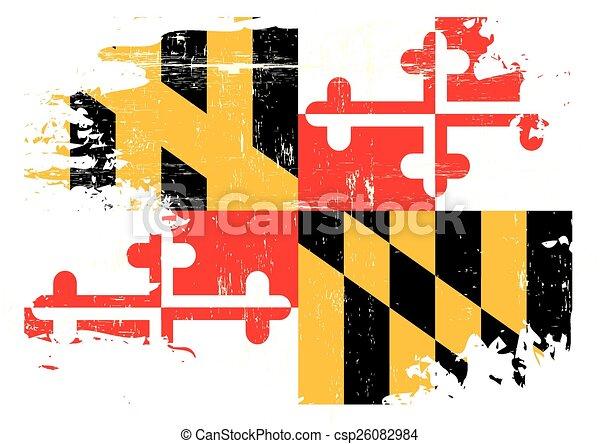 arranhado, bandeira maryland - csp26082984